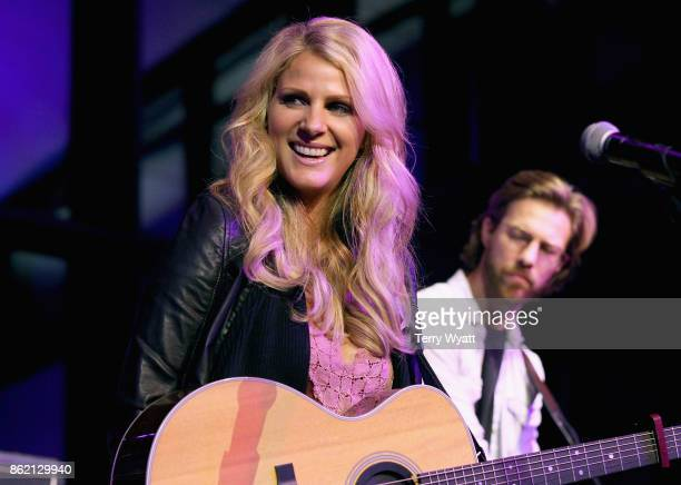 Jennifer Wayne of musical group Runaway June performs onstage at the Creative Artists Agency party during the IEBA 2017 Conference on October 16 2017...