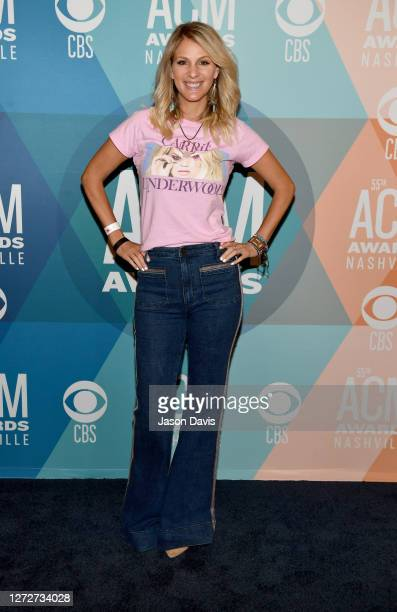 Jennifer Wayne of Runaway June attends virtual radio row during the 55th Academy of Country Music Awards at Gaylord Opryland Resort & Convention...