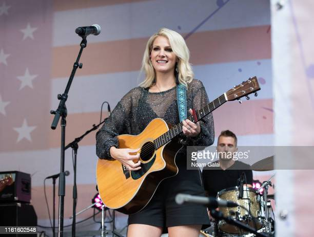 Jennifer Wayne of Runaway June performs on FOX Friends AllAmerican Summer Concert Series July 12 2019 in New York City
