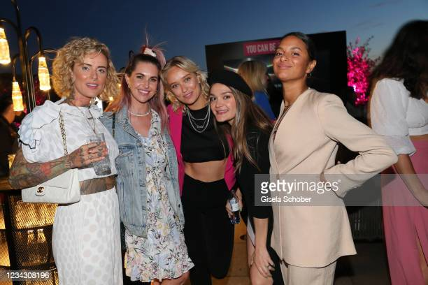 Jennifer Weist, Ines Anioli, Caro Cult, Emily Roberts, Taneshia Abt during the Frauen100 event at Hotel De Rome on July 29, 2021 in Berlin, Germany.