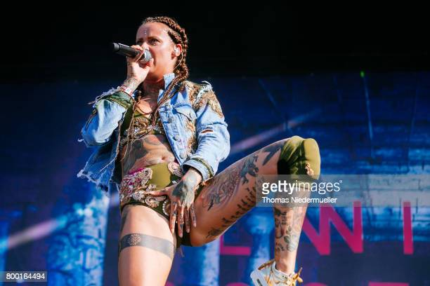 Jennifer Weist of Jennifer Rostock performs during the first day of the Southside festival on June 23 2017 in Neuhausen Germany