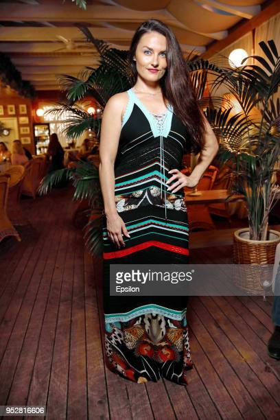 Jennifer Wenger attends a party to celebrate the end of 'Oracle' filming at the 'Angelo' restaurant on April 29 2018 in Moscow Russia