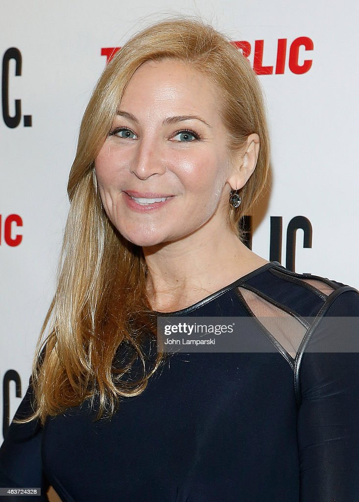 Jennifer Westfeldt attends 'Hamilton' Opening Night at The Public Theater on February 17, 2015 in New York City.