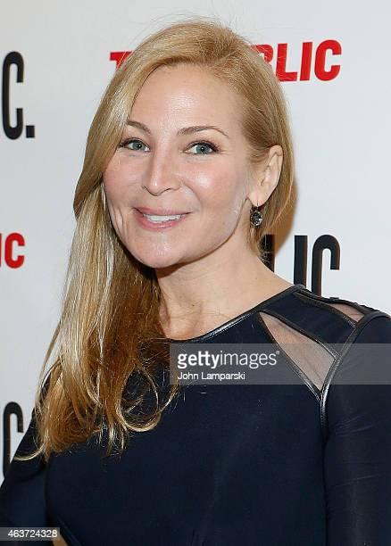 Jennifer Westfeldt attends 'Hamilton' Opening Night at The Public Theater on February 17 2015 in New York City