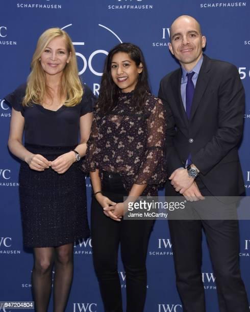Jennifer Westfeldt Sonejuhi Sinha and Edouard dArbaumont attend the IWC Tribeca Film Festival Filmmaker Award Celebration on April 16 2018 in New...