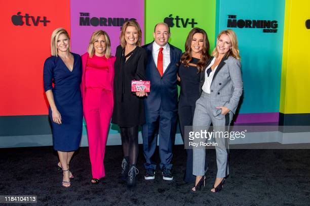 Jennifer Westhoven Alisyn Camerota Christine Romans Brian Stelter and Robin Meade attend Apple TV's The Morning Show world premiere at David Geffen...
