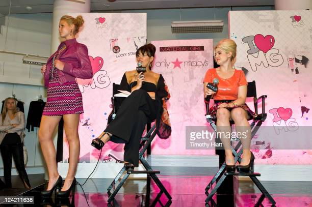 Jennifer Wilkins and Kelly Osbourne attend Fashion's Night Out celebration at Macy's State Street on September 8 2011 in Chicago Illinois