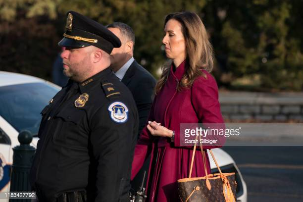 Jennifer Williams a senior aide to Vice President Mike Pence arrives to the Longworth House Office Building to testify before the House Intelligence...