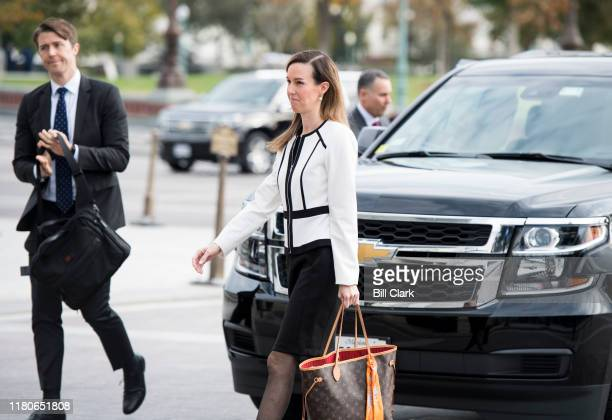 Jennifer Williams a special advisor to Vice President Mike Pence for Europe and Russia arrives for a closed door meeting to testify as part of the...