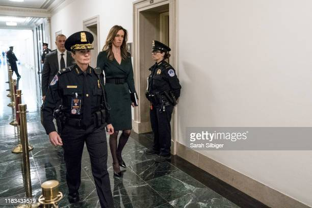 Jennifer Williams adviser to Vice President Mike Pence for European and Russian affairs walks through the halls of the Longworth House Office...