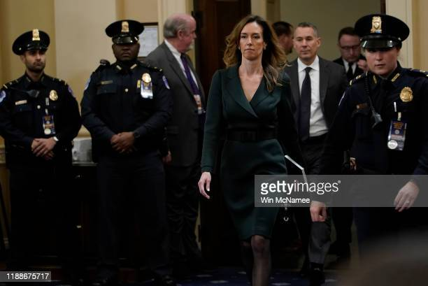 Jennifer Williams adviser to Vice President Mike Pence for European and Russian affairs returns after a short break to testify before the House...