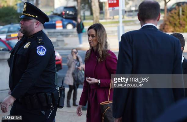 Jennifer Williams an aide to Vice President Mike Pence arrives to testify during the House Intelligence Committee hearing into President Donald...