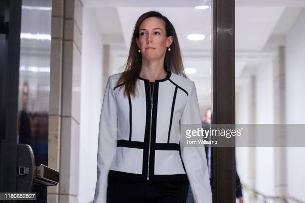 Jennifer Williams an aide to Vice President Mike Pence arrives to the Capitol Visitor Center for a deposition related to House's impeachment inquiry...