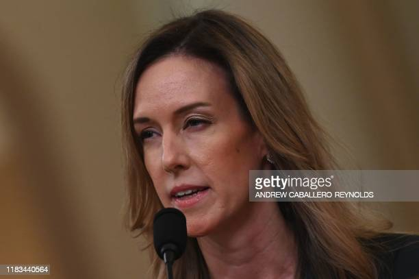 Jennifer Williams an aide to Vice President Mike Pence testifies during the House Intelligence Committee hearing into President Donald Trump's...
