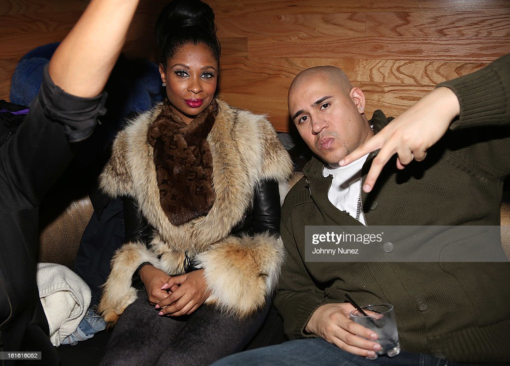 Jennifer Williams and Cisco Rosado attend the Baltimore Ravens Superbowl Victory Party at Greenhouse on February 12, 2013 in New York City.