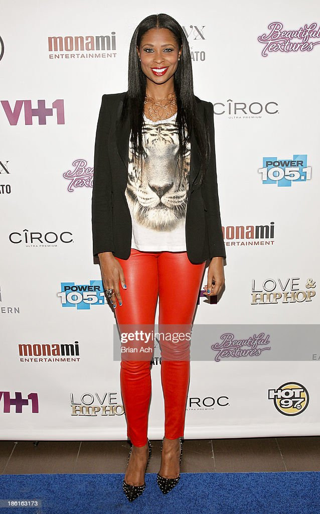 Jennifer Williams appears at the VH1 'Love & Hip Hop' Season 4 Premiere at Stage 48 on October 28, 2013 in New York City.