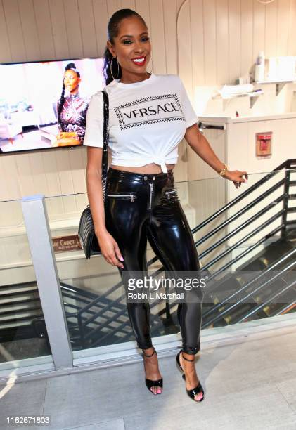"Jennifer Williams attends OG and CECE's ""Basketball Wives"" viewing party at Hooters on July 17, 2019 in Hollywood, California."