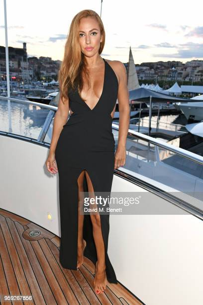Jennifer Yepez attends the Lark and Berry launch party on a private yacht during the 71st Cannes Film Festival on May 16 2018 in Cannes France