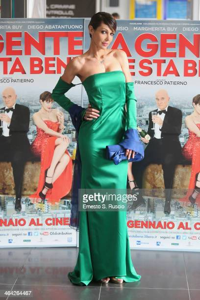 Jennipher Rodriguez attends the 'La Gente Che Sta Bene' Photocall at Cinema Adriano on January 21 2014 in Rome Italy