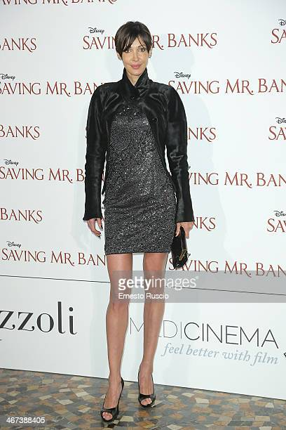 Jennipher Rodriguez attends the 'Saving Mr Banks' premiere at The Space Moderno on February 6 2014 in Rome Italy