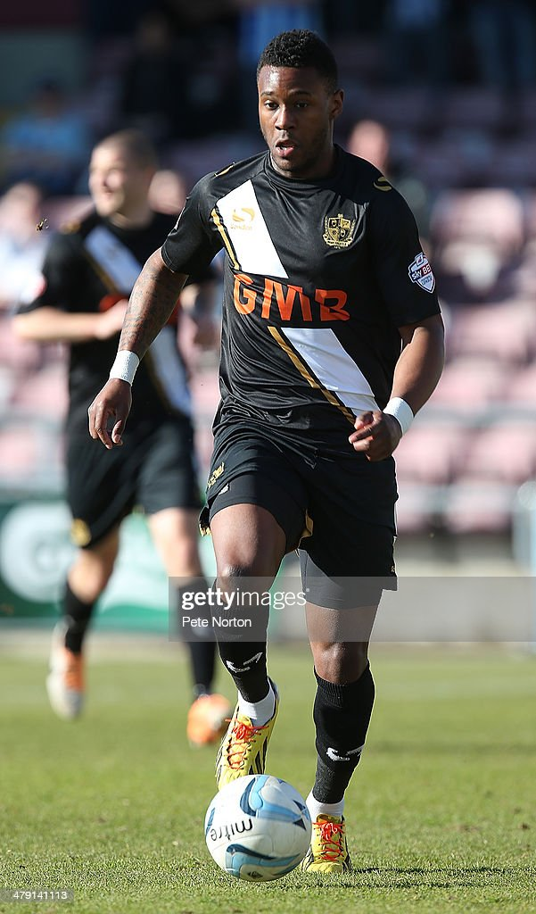 Jennison Myrie-Williams of Port Vale in action during the Sky Bet League One match between Coventry City and Port Vale at Sixfields Stadium on March 16, 2014 in Northampton, England.
