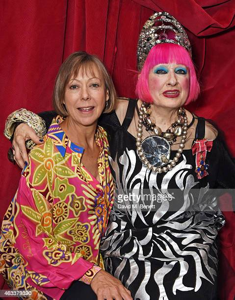 Jenny Agutter and Dame Zandra Rhodes attend a party to celebrate Zandra Rhodes becoming a Dame at The Fashion and Textile Museum on February 13, 2015...