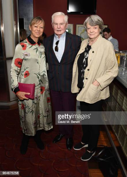 Jenny Agutter Derek Jacobi and Maggie Smith attend the Acting For Others Golden Bucket Awards at The Prince of Wales Theatre on May 4 2018 in London...