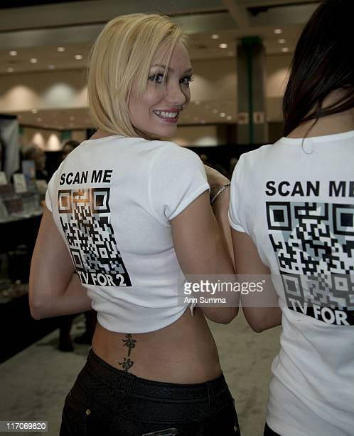 Jenny Allford Jessica Vargas of Playboy TV at the LA Convention Center during the Reality Rocks reality show convention on April 10 2011 in Los...
