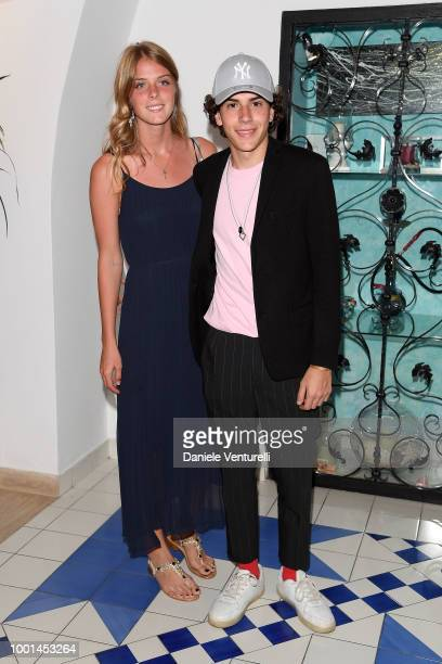 Jenny and Mirco Trovato attend 2018 Ischia Global Film Music Fest on July 18 2018 in Ischia Italy
