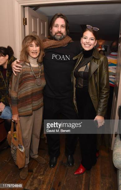 Jenny Barraclough Patrick O'Neill and Sophia Schroeder attend the special screening for 'Habitat' at Soho House on November 3 2019 in London England
