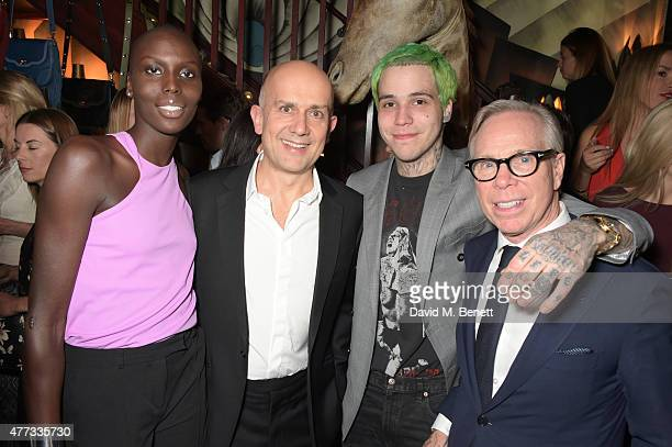 Jenny Bastet, Marc Quinn, Ricky Hil and Tommy Hilfiger attend the Walkabout Foundation Event hosted by Dee Ocleppo And Tommy Hilfiger at Loulou's on...