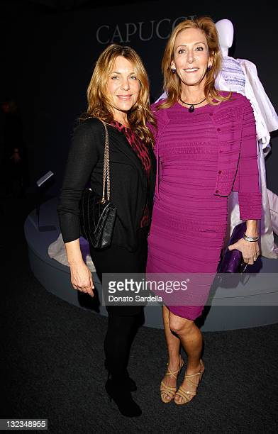 Jenny Belushi and Janet Crown attend Il Teatro Exhibit on November 11 2011 in Beverly Hills California