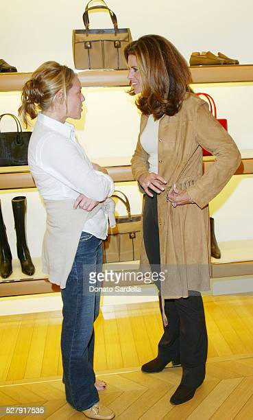 Jenny Belushi and Maria Shriver during United Friends of the Children Trunk Show Event at Tod's Boutique at Tod's Store Beverly Hills in Beverly...