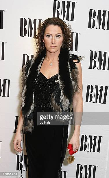 Jenny Berggren of Ace of Base receives Award for the 4 Million selling 'The Sign' at the 2007 BMI Awards at the Dorchester Hotel October 16 2007 in...