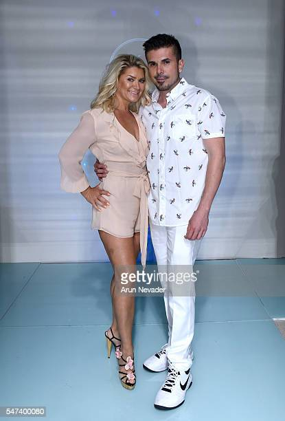 Jenny Buettner of Shibue and Art Hearts Fashion founder and designer Erik Rosete attend Art Hearts Fashion Miami Swim Week Presented by AIDS...