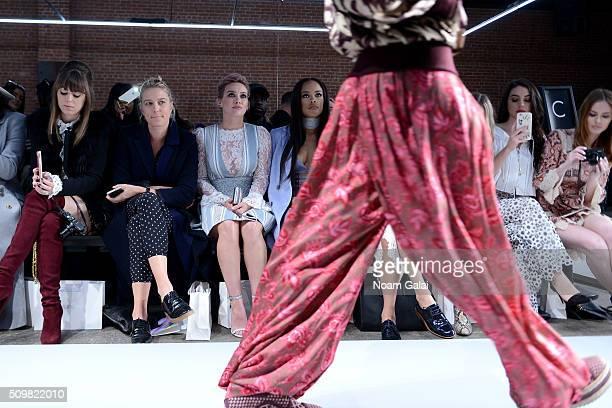Jenny Cipoletti Anita Patrickson Hillary Duff Serayah McNeill Adelaide Kane and Alyssa Campanella attend Zimmermann Fall 2016 Runway Show at Art Beam...