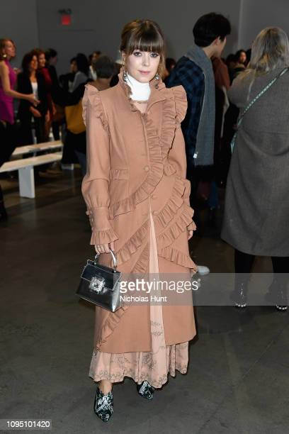 Jenny Cipoletti attends the Tadashi Shoji FW'19 Fashion Show front row during New York Fashion Week The Shows at Gallery I at Spring Studios on...