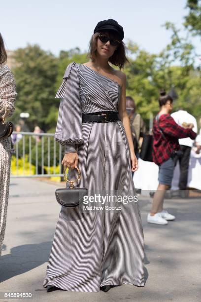 Jenny Cipoletti is seen attending Lela Rose during New York Fashion Week wearing Zimmerman on September 11 2017 in New York City