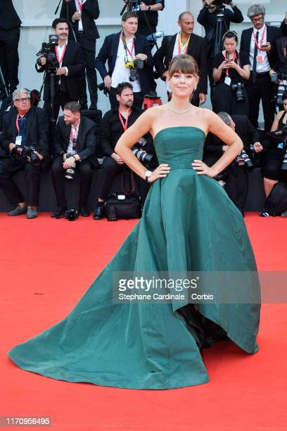 Jenny Cipoletti walks the red carpet ahead of the Marriage Story screening during the 76th Venice Film Festival at Sala Grande on August 29 2019 in...
