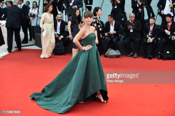 Jenny Cipoletti walks the red carpet ahead of the Marriage Story screening during during the 76th Venice Film Festival at Sala Grande on August 29...