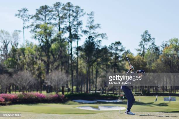 Jenny Coleman of the United States plays her shot from the 11th tee during the final round of the LPGA Drive On Championship at Golden Ocala Golf...