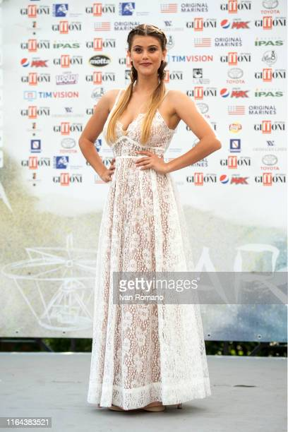Jenny De Nucci attends Giffoni Film Festival 2019 on July 26, 2019 in Giffoni Valle Piana, Italy.