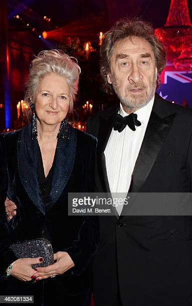 Jenny De Yong and Howard Jacobson attend as Kylie Minogue is awarded Australian of the Year in the UK at Quantas Australia Day Gala Dinner at...