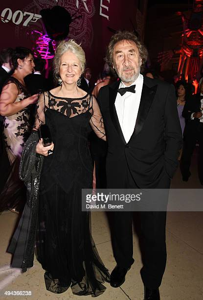 "Jenny De Yong and Howard Jacobson attend the World Premiere after party of ""Spectre"" at The British Museum on October 26, 2015 in London, England."