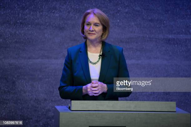 Jenny Durkan, mayor of Seattle, pauses while speaking during a Microsoft Corp. Presentation on affordable housing in Bellevue, Washington, U.S., on...