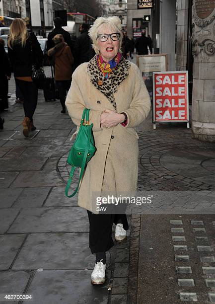 Jenny Eclair arrives at The Oldie Awards at Simpsons on the Strand on February 3 2015 in London England