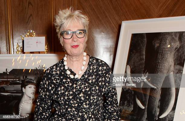 Jenny Eclair attends a fundraising event for The Eve Appeal at Claridge's Hotel on November 3 2014 in London England