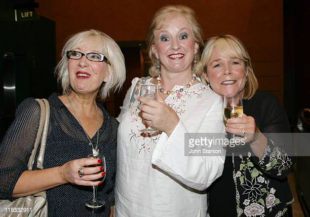 Jenny Eclair Dillie Keane and Linda Robson during Opening of 'Grumpy Old Women' Live at Capitol Theatre in Sydney NSW Australia
