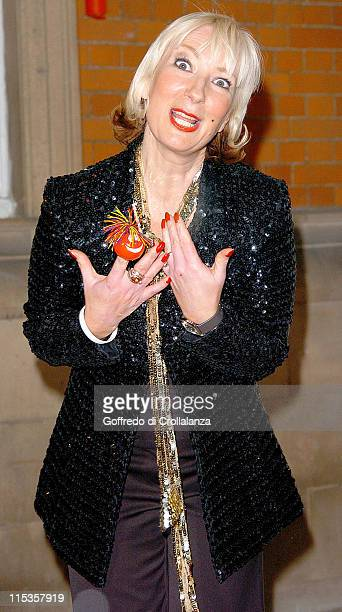 Jenny Eclair during Comic Relief Fame Academy 2005 Jenny Eclair Eviction at Lambeth College in London Great Britain