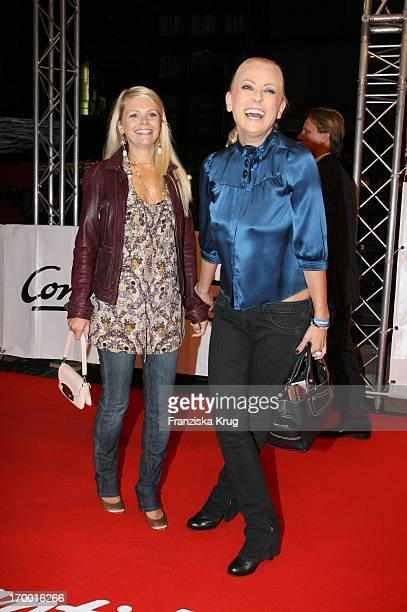 Jenny Elvers And Anne Sophie Briest at The Premiere Of The Perfume in Berlin Cinestar
